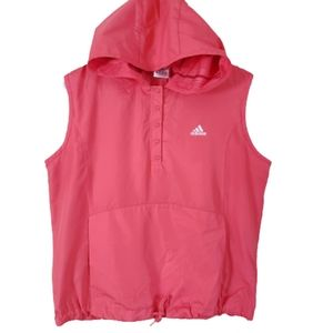 Adidas Athletic Sport Hooded Windbreaker Vest